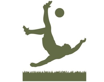 Product picture Wall Decal no.1033 Footballer In Action
