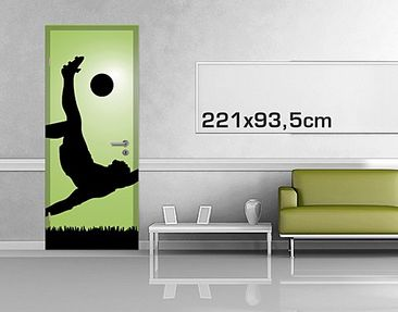 Product picture Door Photo Wall Mural Footballer In...