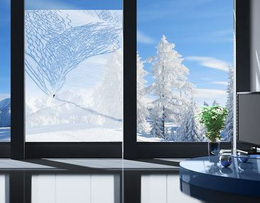 Produktfoto Window Mural Skier In The Alps