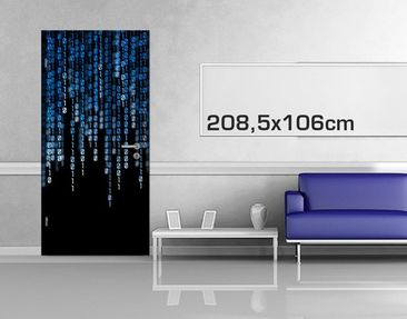 Product picture Door Photo Wall Mural Binary Code