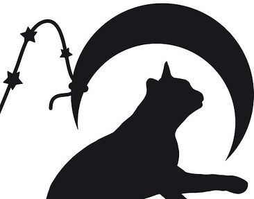 Product picture Window Sticker no.RS98 Cats With Moon