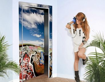 Produktfoto Door Photo Wall Mural Paradise For...