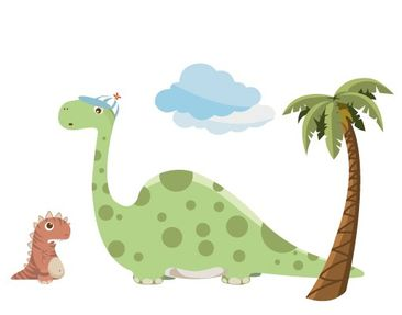 Product picture Wall Decal no.MW90 Dino Gang Tiny And...
