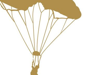 Product picture Wall Decal no.MW93 Parachutist