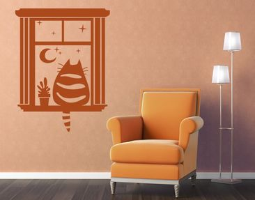 Product picture Wall Decal no.MW97 Cat Cinema
