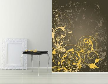 Produktfoto Photo Wall Mural Curlicues In Gold