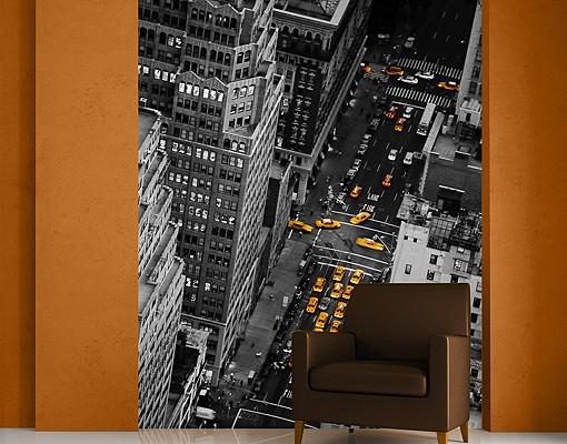 Produktfoto New York Fototapete selbstklebend - Taxilichter Manhattan