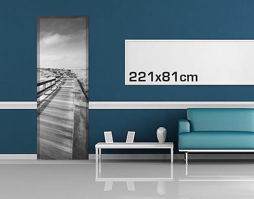 Produktfoto Türtapete Strand - Nordseespaziergang II - selbstklebend