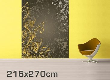 Product picture Photo Wall Mural Curlicues In Gold And...