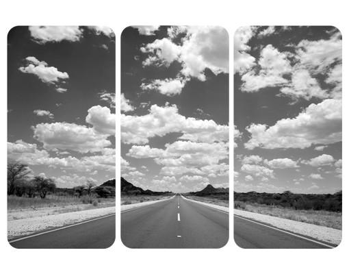 Produktfoto Selbstklebendes Wandbild Route 66 II Triptychon I