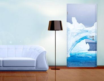 Product picture Door Photo Wall Mural Antarctic Iceberg