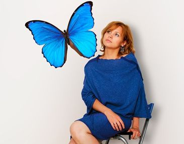 Produktfoto Wall Decal no.444 Blue Morpho
