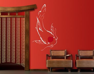 Produktfoto Wall Decal no.SK5 White Koi