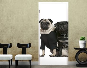 Produktfoto Door Photo Wall Mural Pug Fashion