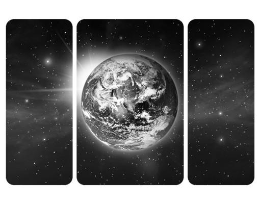 Produktfoto Selbstklebendes Wandbild Weltall II Triptychon II