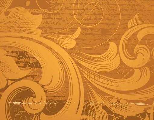 Produktfoto Fensterfolie - Sichtschutz Fenster Goldener Barock - Fensterbilder