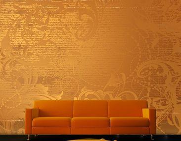 Produktfoto Mustertapete selbstklebend - Goldener Barock