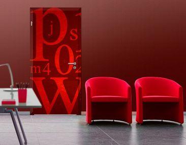 Produktfoto Door Photo Wall Mural Signs In Red