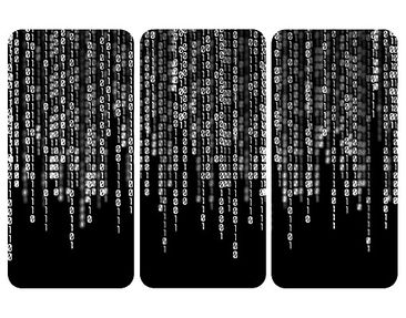 Product picture Wall Mural Binary Code II Triptych I