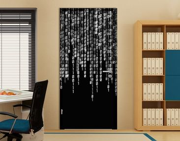 Produktfoto Door Photo Wall Mural Binary Code II