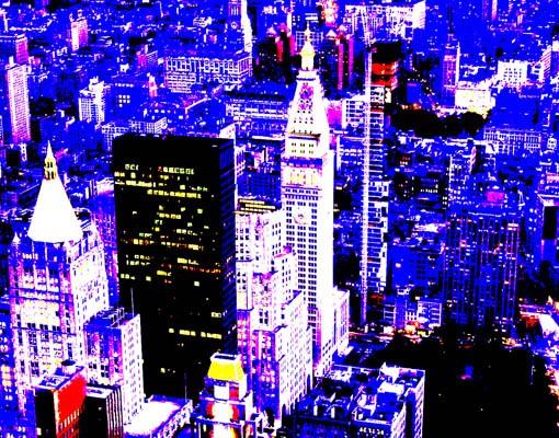 Produktfoto Selbstklebendes Wandbild Retro NYC Triptychon II