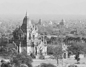 Product picture Wall Mural Bagan In Myanmar II Triptych...