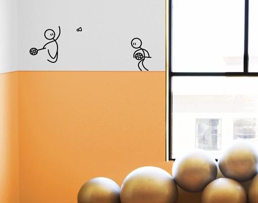 Produktfoto Wandtattoo Kinderzimmer No.IF12 Badminton