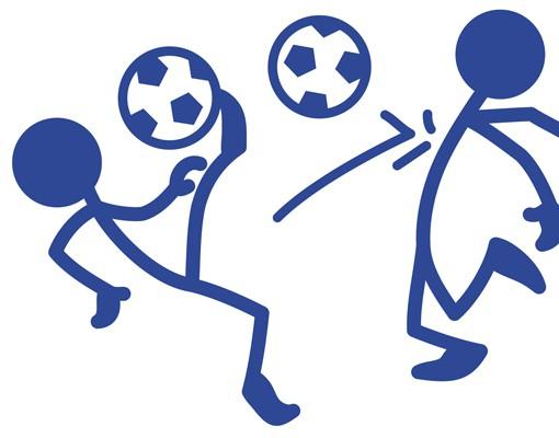 Produktfoto Wandtattoo Fußball - No.RS99 Strichmännchen Fußball