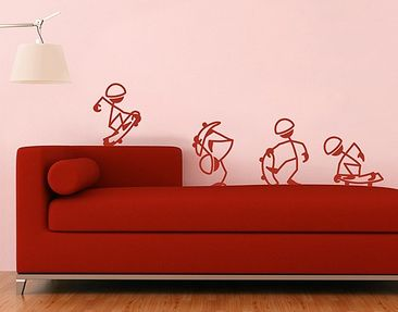 Produktfoto Wall Decal no.RS102 Stick Figures Skater