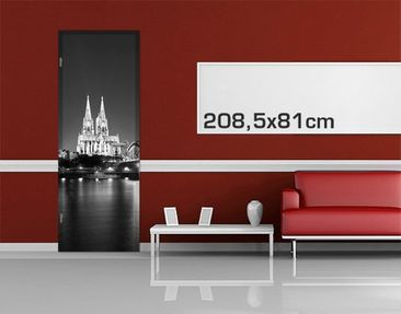 Product picture Door Photo Wall Mural Cologne At Night...