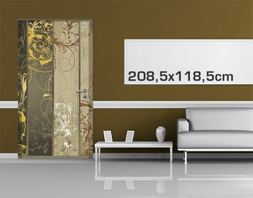 Product picture Door Photo Wall Mural Grunge Banner...