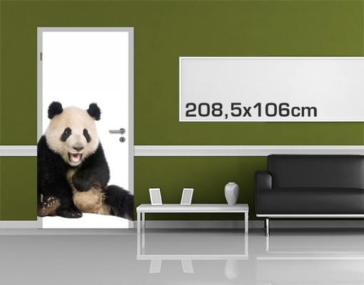 Produktfoto TürTapete Lachender Panda