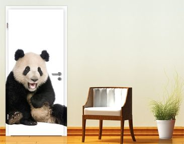Produktfoto Door Photo Wall Mural Laughing Panda