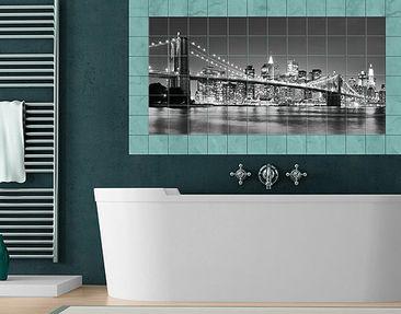 Product picture Tile Mural Nighttime Manhattan Bridge II