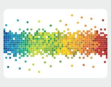Product picture Wall Mural Pixel Rainbow