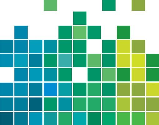 Produktfoto Selbstklebendes Wandbild Pixel-Regenbogen Triptychon II