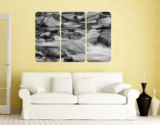 Produktfoto Selbstklebendes Wandbild Fluss in Kanada II Triptychon I