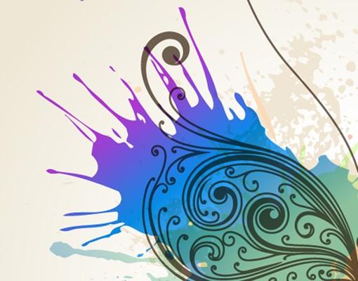 Produktfoto Selbstklebendes Wandbild Aquarell Kontrast Duo