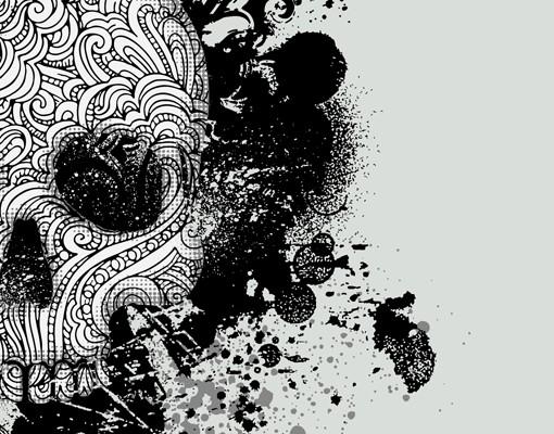 Produktfoto Selbstklebendes Wandbild Skull