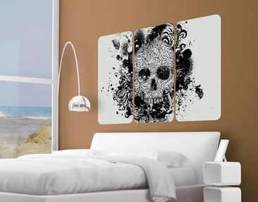 Product picture Wall Mural Skull Triptych I