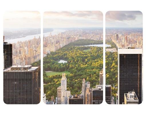 Produktfoto Selbstklebendes Wandbild Blick über den Central Park Triptychon II