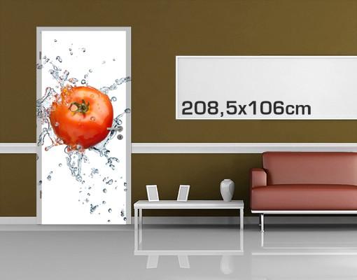Produktfoto Küchen Türtapete selbstklebend - Frische Tomate