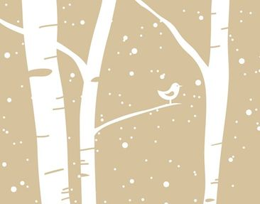 Product picture Tile Mural Snowconcert between birches