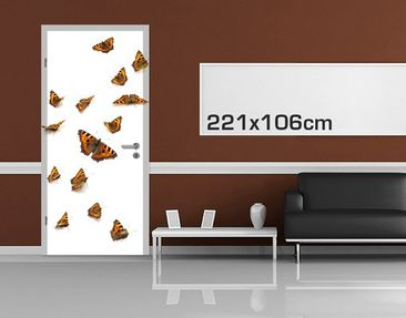 Product picture Door Photo Wall Mural Swarm Of Small...