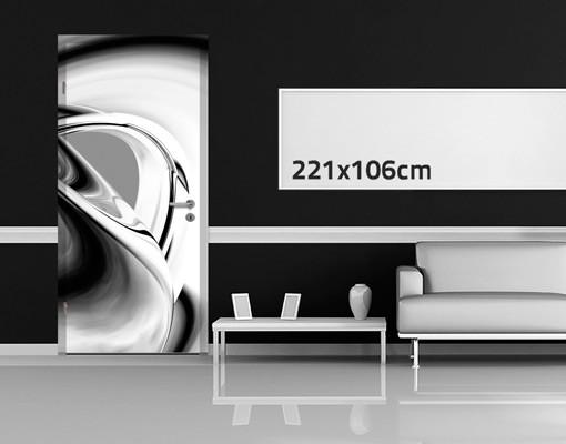 Produktfoto 3D Türtapete selbstklebend - Drifting II