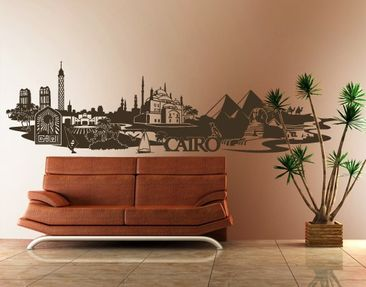 Produktfoto Wall Decal no.FB82 Cairo Skyline XXL
