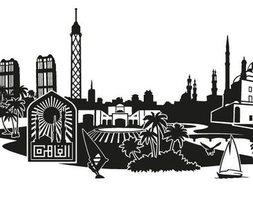 Product picture Wall Decal no.FB82 Cairo Skyline XXL