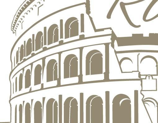 Produktfoto Wandtattoo Skyline Sprüche - Wandworte No.FB84 Colosseum