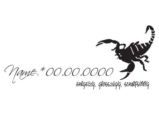 Produktfoto Wandtattoo Sprüche - Wandtattoo Namen No.UL770 Wunschtext Skorpion