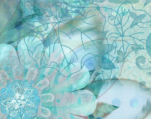 Produktfoto Fensterfolie - XXL Fensterbild Winterblumen - Fenster Sichtschutz
